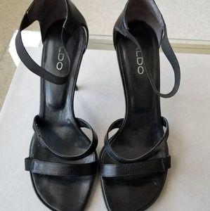 Aldo Black Strap Women Sandals